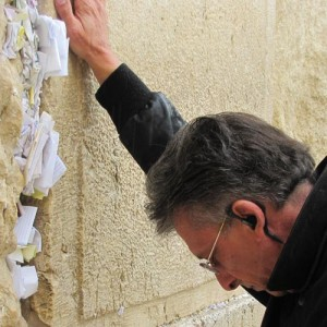 Henry on the Wailing Wall